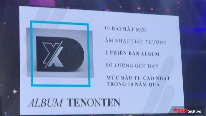 Và một album TENONTEN với phiên bản giới hạn đặc biệt nhất trong 10 năm hoạt động của Đông Nhi cũng sẽ được phát hành.
