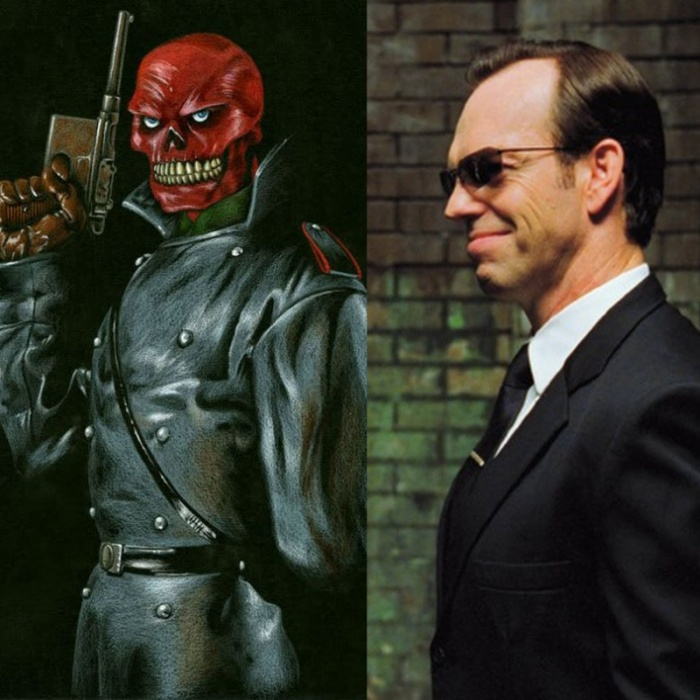 Trước đó, tên phản diện đầu lâu đỏ luôn được đóng bởi Hugo Weaving.