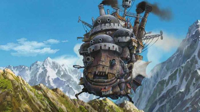Lâu đài bay đầy thú vị của anh chàng pháp sư Howl.