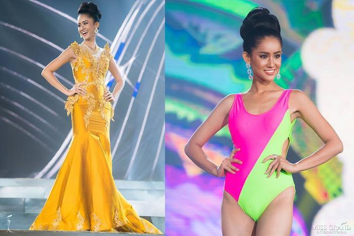 """… nhưng không thể vươn lên dẫn đầu vì mỹ nhân Campuchia - Lika Dy có được số bình chọn quá """"khủng""""."""