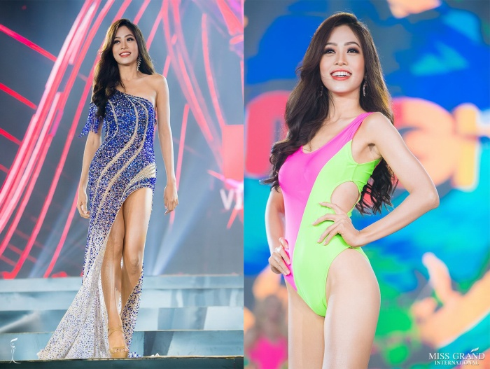 Hình ảnh rạng rỡ của Phương Nga trong đêm Bán kết càng khiến fan Việt thêm động lực bình chọn.