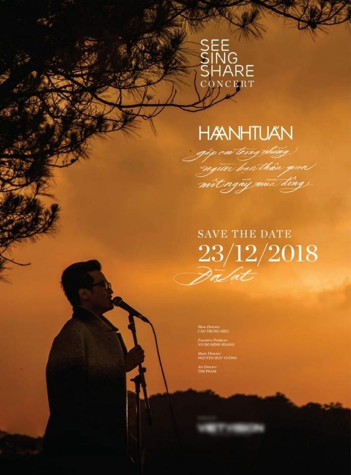 Hình ảnh poster được Hà Anh Tuấn chia sẻ trên trang fanpage chính thức.