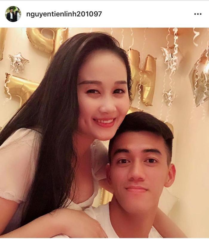 Tiến Linh và bạn gái rất đẹp đôi.