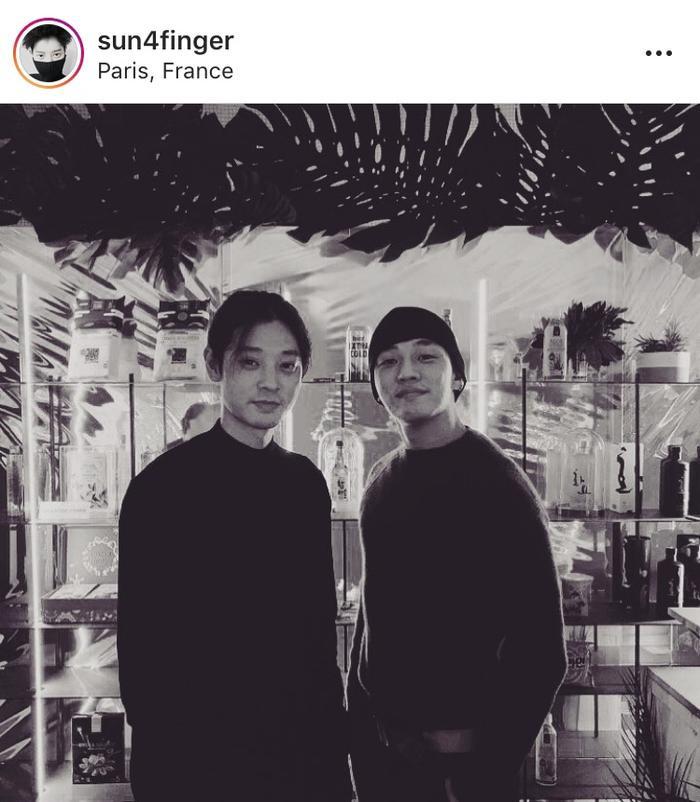 Jung Joon Young và Yoo Ah In tại Pháp.