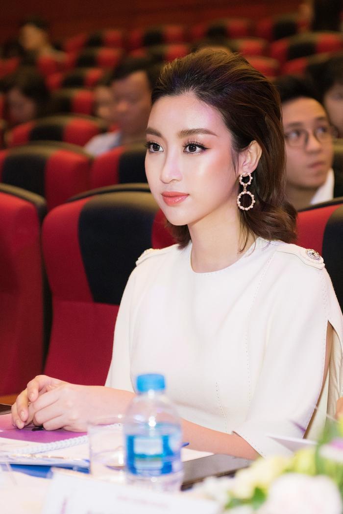 Hoa hậu Đỗ Mỹ Linh có mặt tại sự kiện.