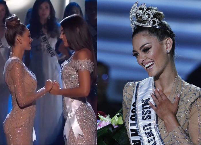 """Miss Universe 2017: Demi-Leigh Nel-Peters có được tính là đang """"bị"""" đối thủ nắm tay?"""