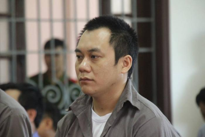 Khuôn mặt trầm tư của bị cáo Hoàng trong phiên xét xử.