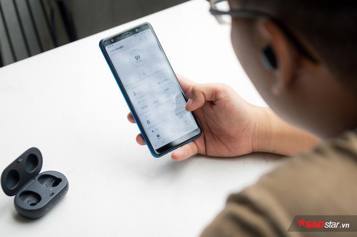 Toàn bộ thông tin tai nghe thu thập được sẽ hiển thị trên ứng dụng Samsung Health