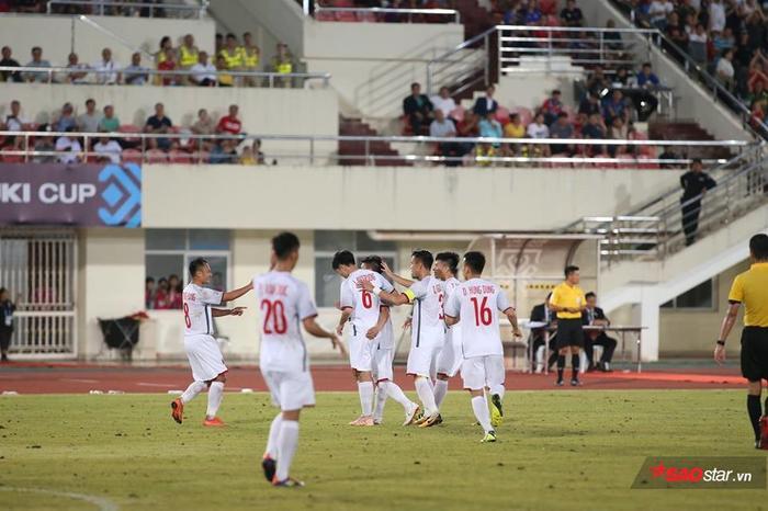 ĐTVN thắng 3-0 trước tuyển Lào. Ảnh: LT