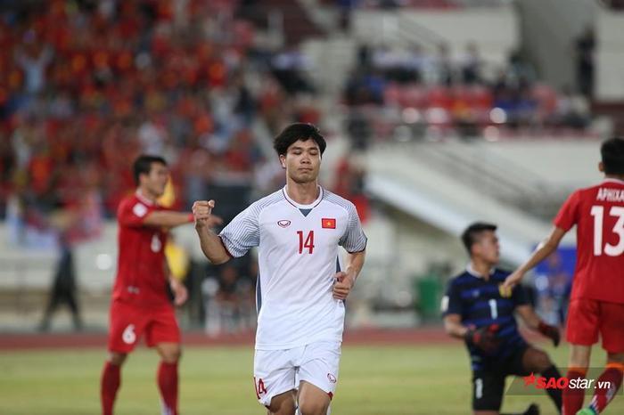 Công Phượng đã có bàn thắng đầu tiên cho ĐTVN ở AFF Cup 2018. Ảnh: LT