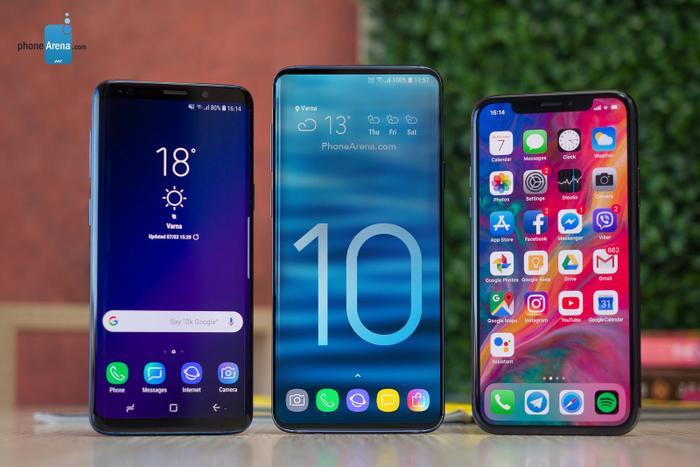 Samsung Galaxy S10 trong concept này thực sự nổi bật hơn cả thiết kế của Apple.