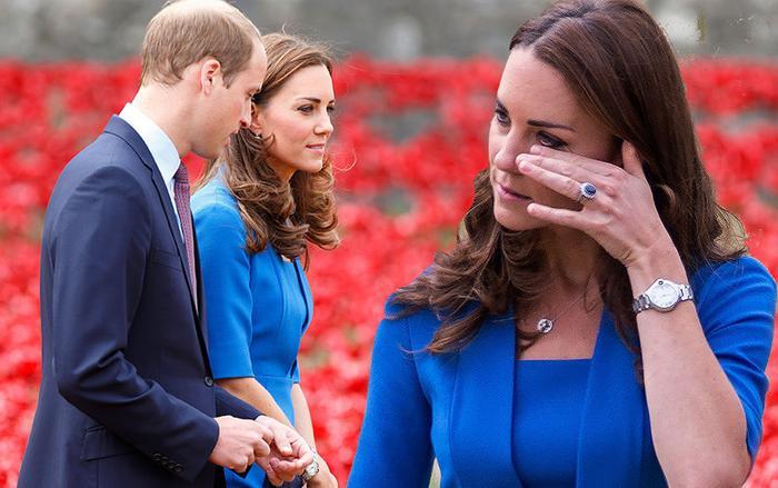Công nương Kate tỏ ra đau khổ vì hành động của Hoàng tử Harry. Ảnh: Newslocker