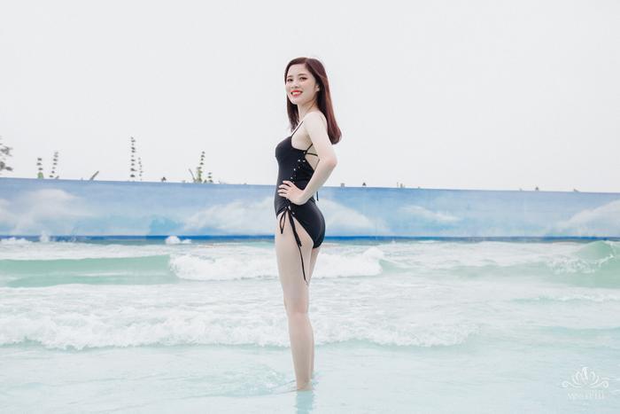 Thí sinh Nguyễn Thị Linh (19 tuổi) cao 1m61 nặng 45kg