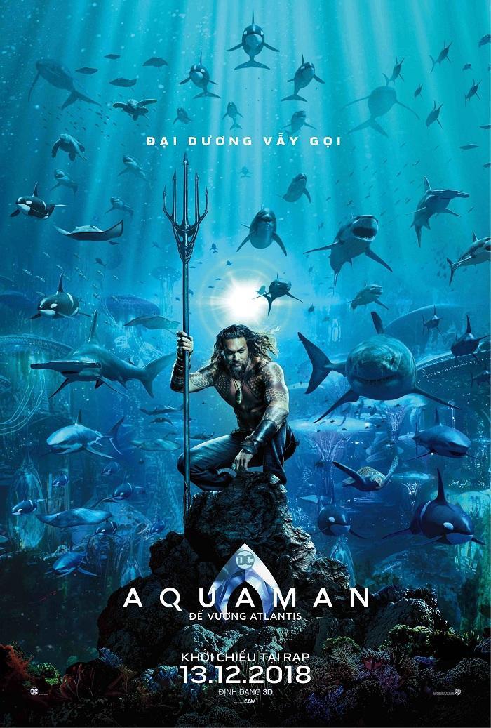 Poster chính thức của Aquaman.