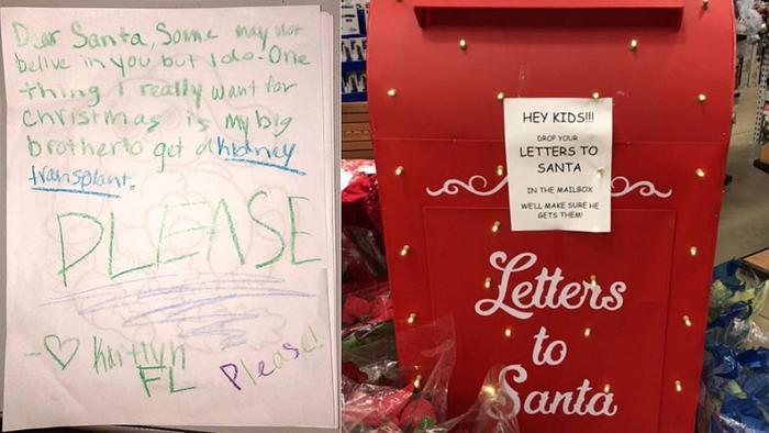 Bé gái viết thư gửi ông già Noel xin một điều khiến hàng triệu người rơi nước mắt