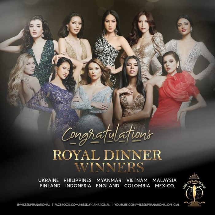 Danh sách thí sinh tham dự Royal Dinner.