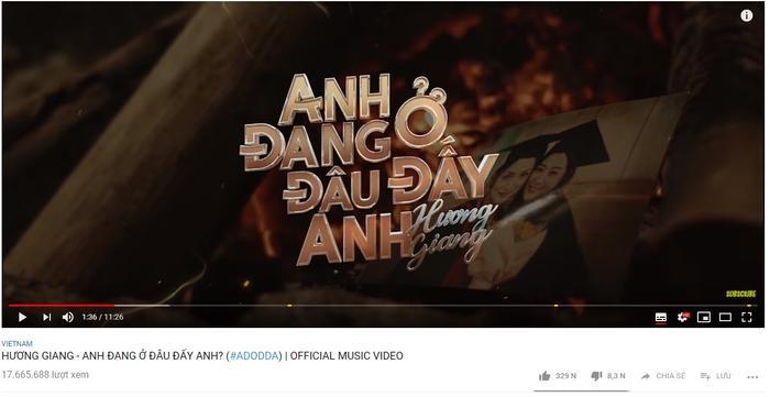 Hiện MV chính thức của #ADODDA đã xuất sắc đạt hơn 17 triệu lượt xem trên youtube.