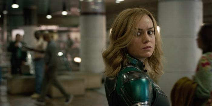 Captain Marvel trong phim riêng của mình.