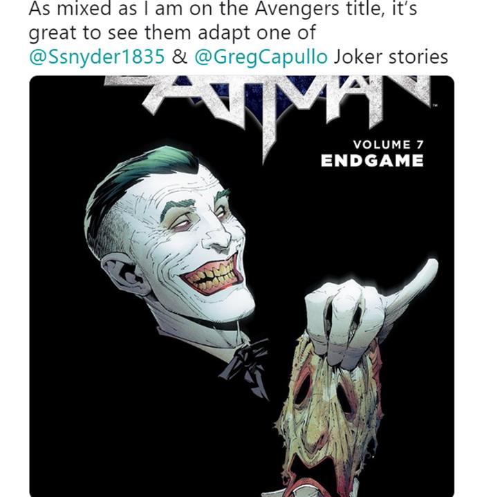Phải chăng Avengers 4 lần này có mời Joker từ DC đóng vai cameo danh dự?