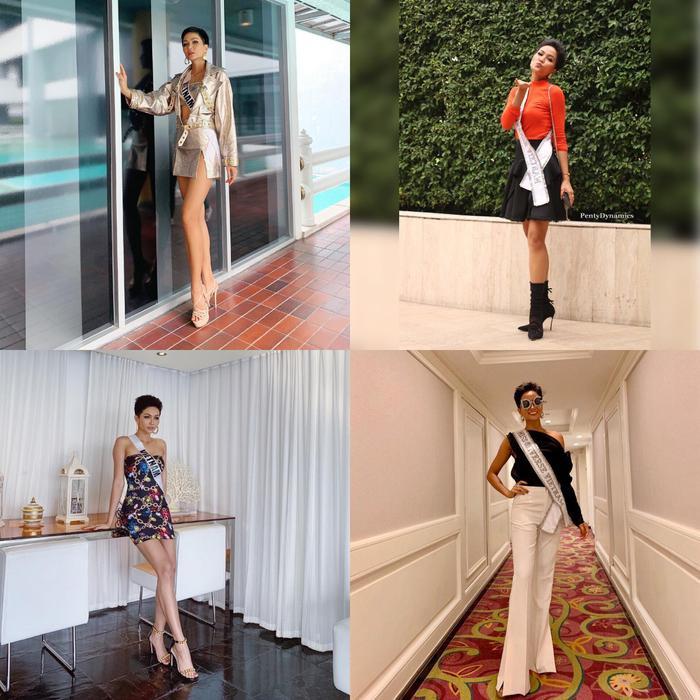 Trong hơn 90 người đẹp chưa có ai qua mặt được đại diện Việt Nam về số lượng váy áo.