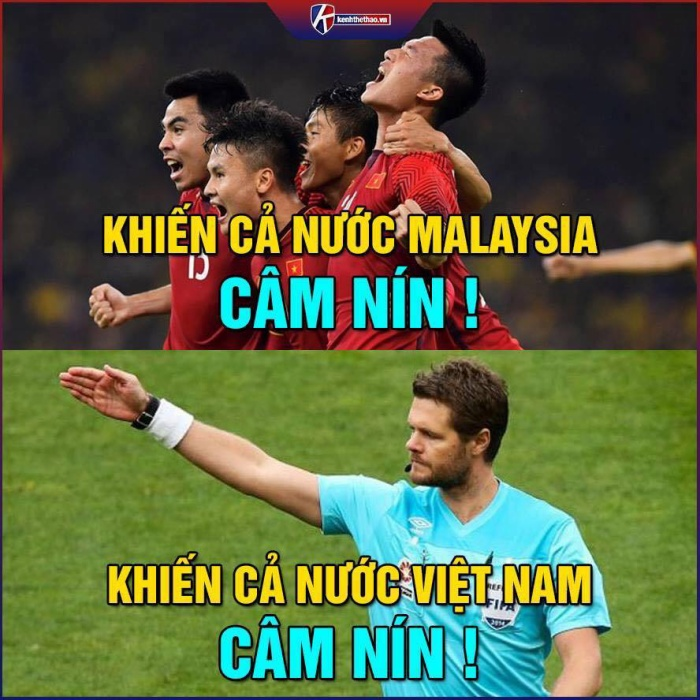 Không chỉ Hà Đức Chinh, biểu cảm hài hước của các cầu thủ khác trên sân cũng được dân mạng lôi ra 'chế' tới bến