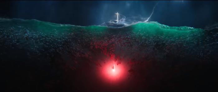 Hình ảnh đám quái vật The Trench tràn ngập mặt biển.