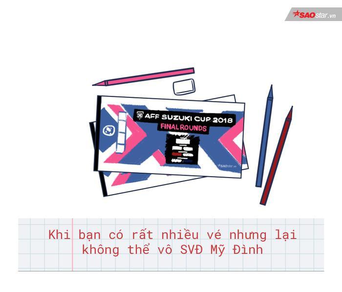 Những chiếc vé giấy có thể giúp không ít sinh viên an ủi tinh thần trước trận đấu cuối cùng của mùa giải AFF Cup.