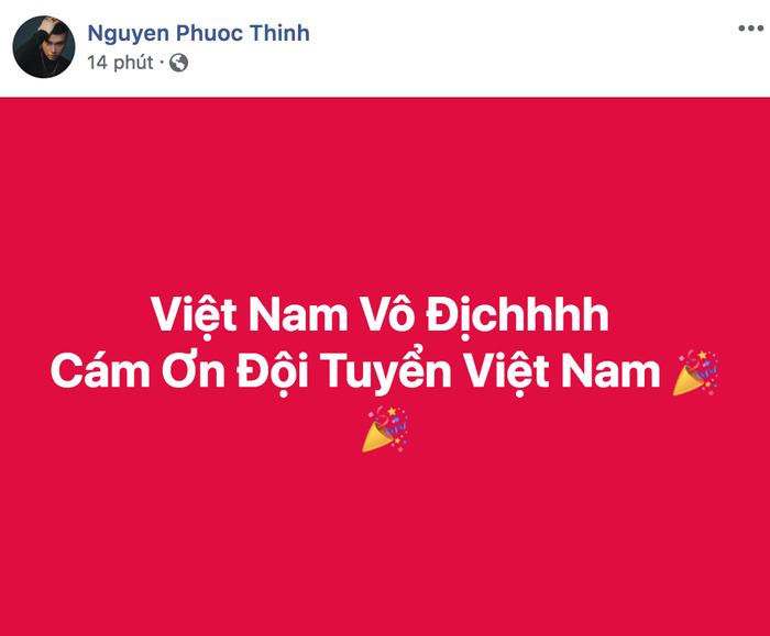 Noo Phước Thịnh gửi lời cám ơn đặc biệt đến các chàng trai đội tuyển quốc gia.