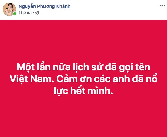 Hoa hậu Nguyễn Phương Khánh háo hức khi lịch sử vang dội một lần nữa lặp lại.