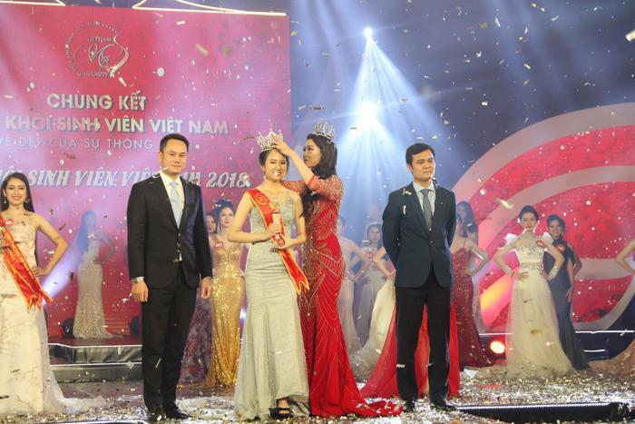 Thí sinh Nguyễn Thị Phương Lan, số báo danh 371, sinh viên Đại học Luật - Huế đã trở thành Hoa khôi Sinh viên Việt Nam năm 2018.