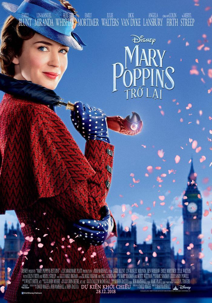 Poster chính thức của Mary Poppins Returns tại Việt Nam.