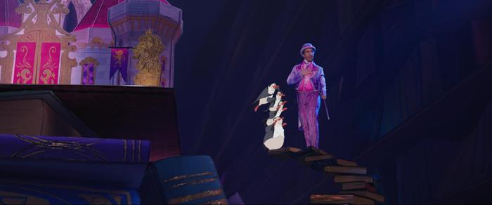 Màn tương tác tự nhiên giữa người thật và nhân vật hoạt hoạ, cho thấy tài nghệ đỉnh cao của Disney.