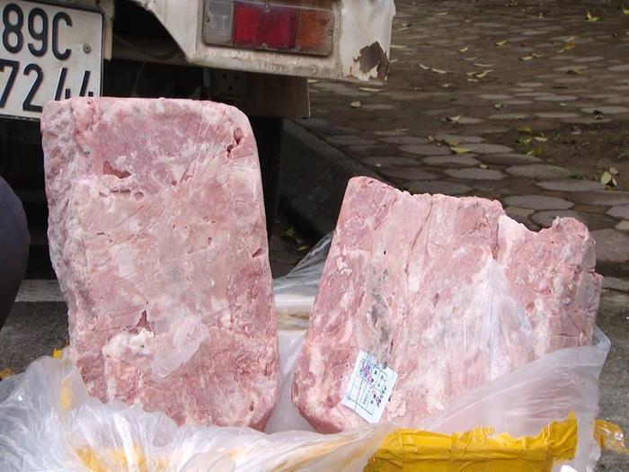 Toàn bộ số nầm lợn được vận chuyển từ vùng biên của tỉnh Lạng Sơn.
