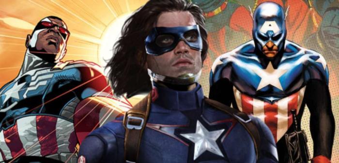 Cũng như Sam Wilson, Bucky từng trở thành Cap