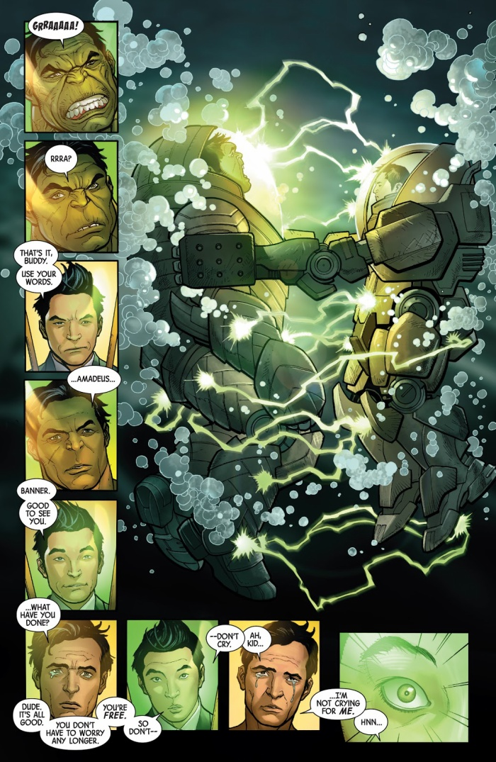 "Amadeus cứu Bruce Banner trong ""Totally Awesome Hulk #4"""