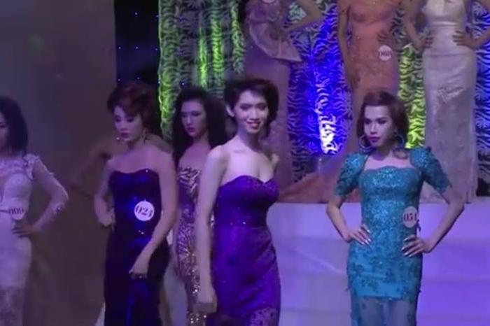 Nhật Hà từng là thí sinh của một cuộc thi nhan sắc dành cho các mỹ nhân chuyển giới.
