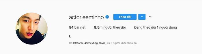 … nhưng đây mới là tài khoản chính thức của Lee Min Ho