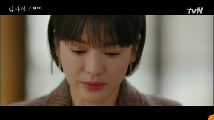 Trước những lời nói của bà Soo Hyun vô cùng đau lòng.