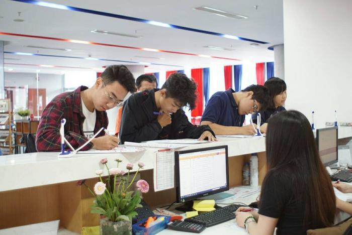 Sinh viên đang theo học tại trường ĐH Quốc tế Hồng Bàng.