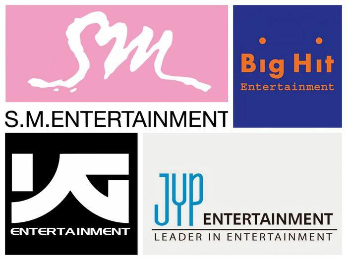 Được quan tâm nhất danh sách vẫn là 4 công ty giải trí có tiếng của Hàn Quốc.