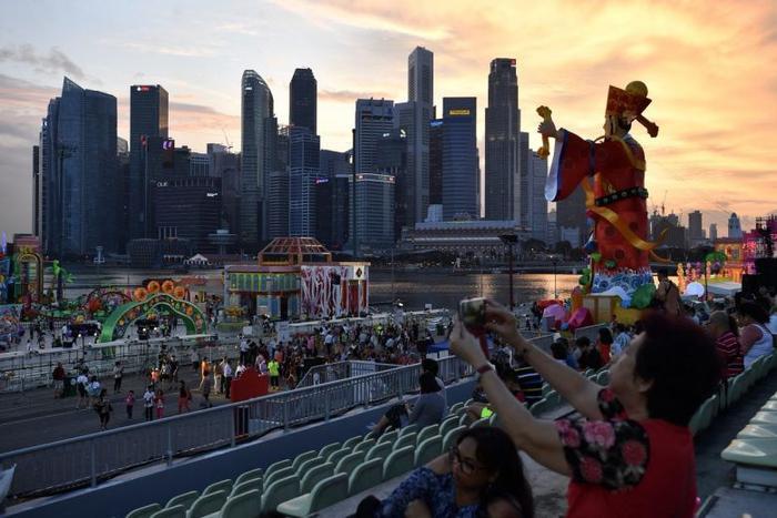 Lễ hội River Hongbao đón tết Âm lịch ở Singapore. (Ảnh: Straits Times)