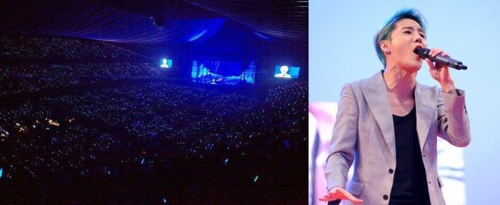 Junsu và hình ảnh concert của mình.