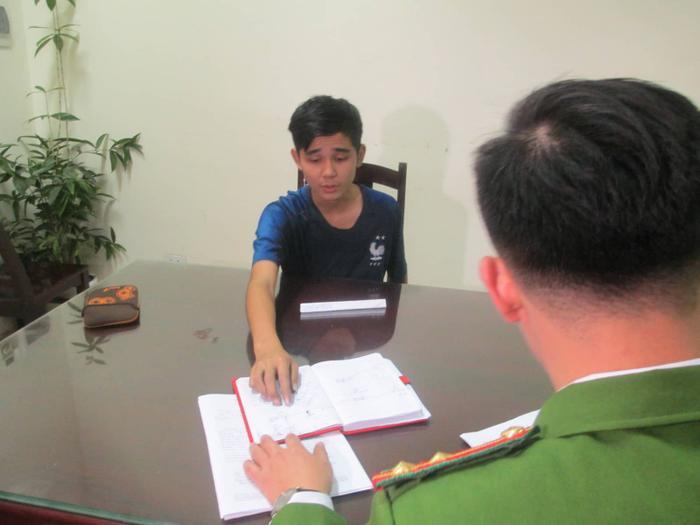 Đối tượng Nguyễn Cảnh An tại cơ quan điều tra.