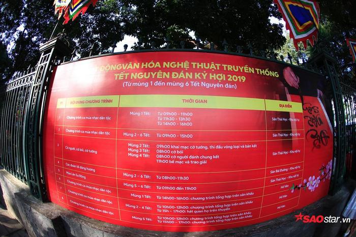 Thời gian diễn ra lễ hội được công khai để người dân nắm rõ.