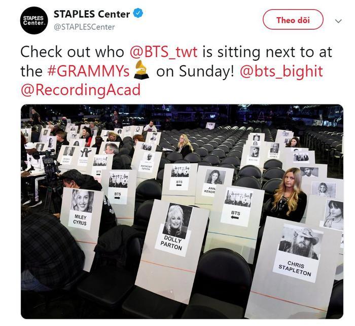 Grammy 2019: BTS sẽ ngồi hàng ghế khách mời cùng với những ngôi sao US-UK nào? ảnh 0