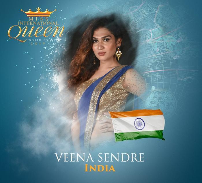 Đại diện Ấn Độ - Veena Sendre, 25 tuổi. Nhan sắc của mỹ nhân này khá già dặn.