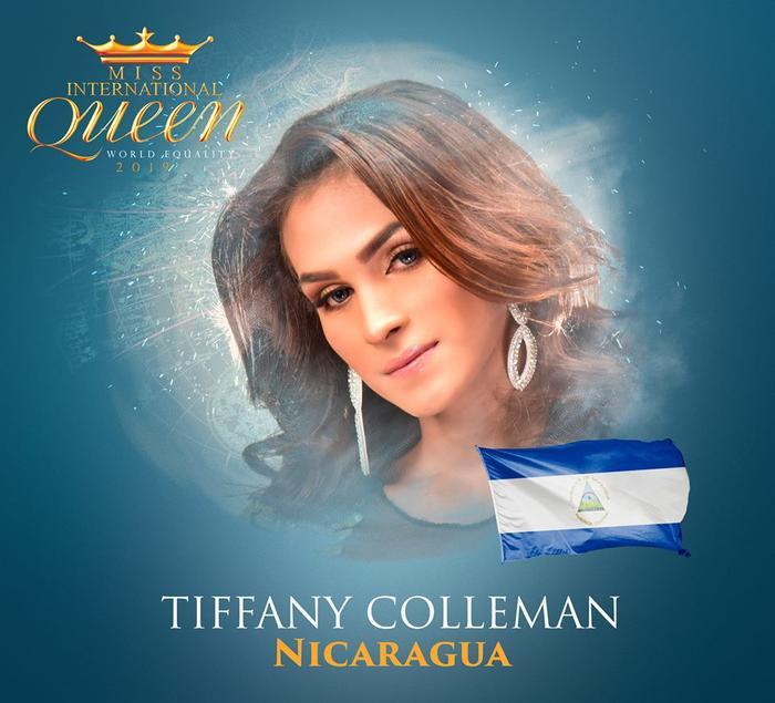 Đến từ Nicaragua, thí sinh Coleman, năm nay 24 tuổi là một kỹ sư.Coleman phải mất nhiều năm để có thể tốt nghiệp bằng kỹ sư. Câu chuyện của cô ấy đã được quay trong một bộ phim tài liệu và được chiếu trong lễ hội LGBT trên khắp thế giới. Coleman đang tích cực hoạt động cho sự bình đẳng LGBT ở quê nhà.
