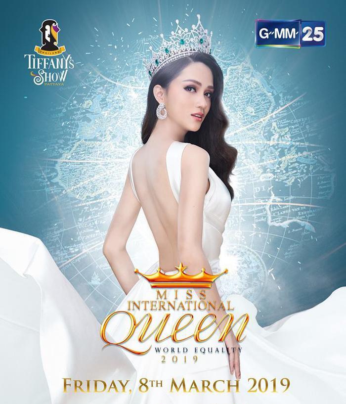 Hương Giang trên trang chủ chính thức của Miss International Queen 2019