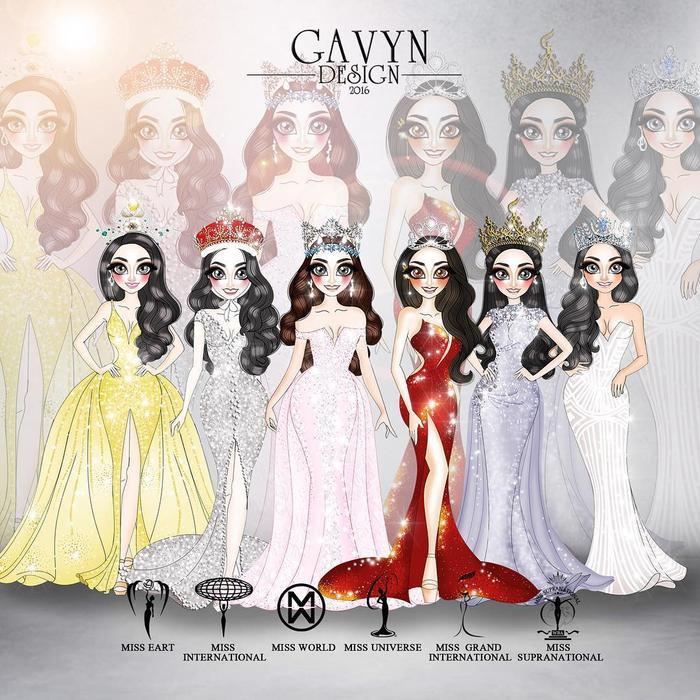 """Bộ 6 """"nữ hoàng sắc đẹp"""" 2018 đại diện cho 6 cuộc thi nhan sắc lớn nhất hành tinh trong phiên bản chipi."""