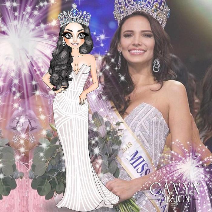 Đương kim Hoa hậu Siêu quốc gia ngườiPuerto Rico -Valeria Vazquez Latorre.